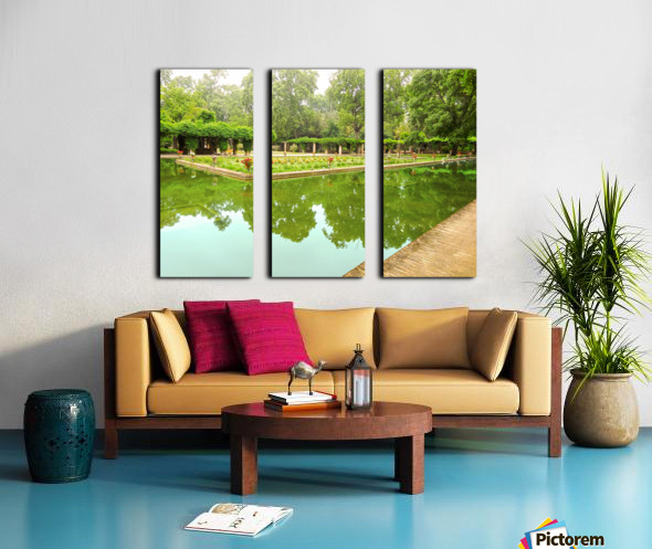 Lotos Pond - Estanque de Los Lotos - Parque de Maria Luisa - Seville Spain Split Canvas print