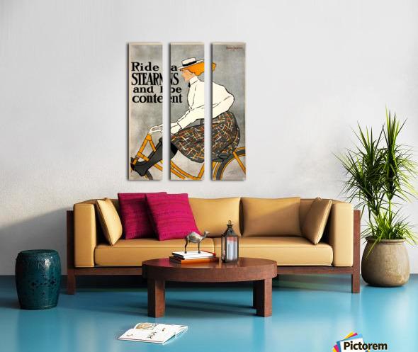 Ride a Stearns Split Canvas print