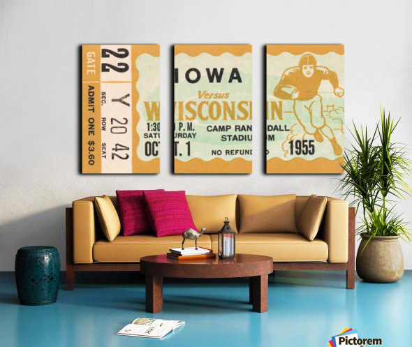 1955 Iowa Hawkeyes vs. Wisconsin Badgers Split Canvas print