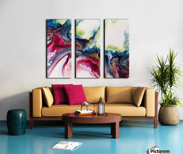 Dichotemy Abstract Split Canvas print