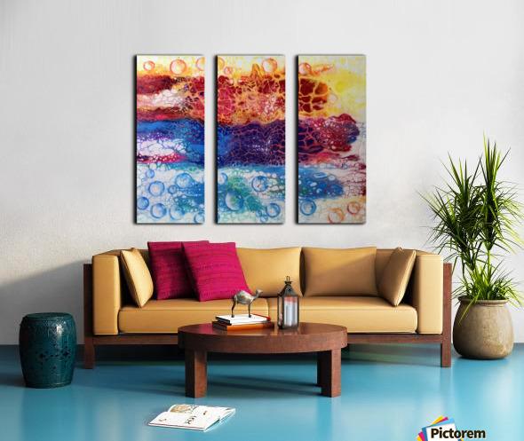 Rainbow Lizard Abstract Split Canvas print