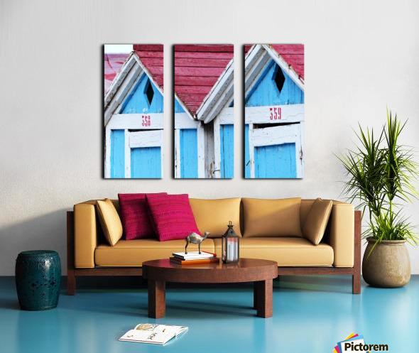 Beach cabin Split Canvas print