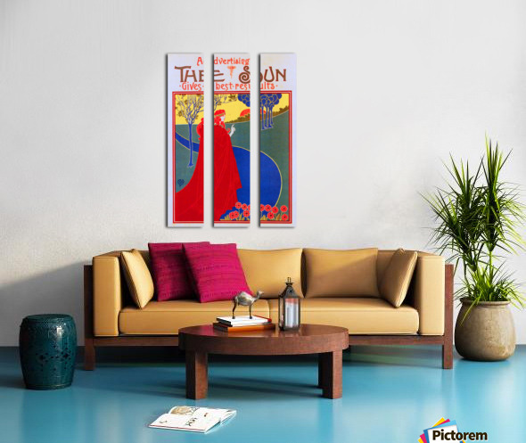 The Sun Split Canvas print