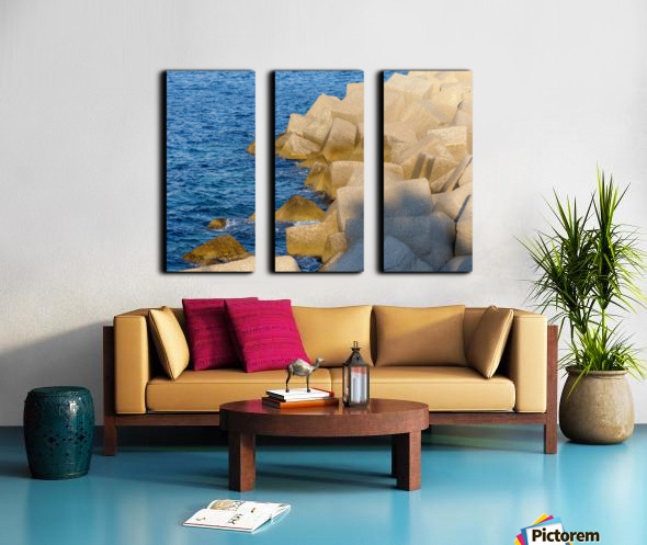 Cubes on the sea Split Canvas print