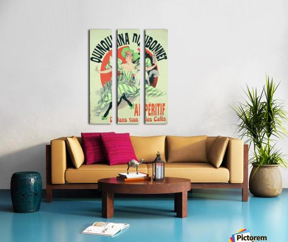 Quinquina Dubonnet - Aperitif dans tous les Cafes poster Split Canvas print