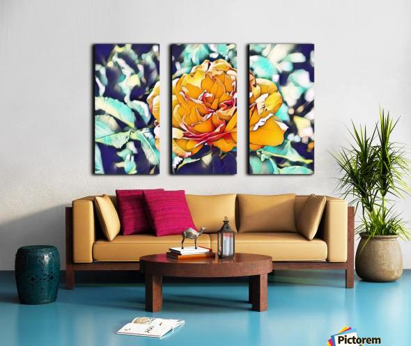 Rose in Yellow Split Canvas print