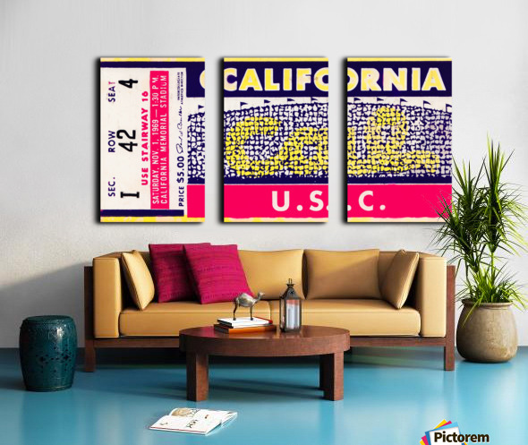 1969 Cal Bears vs. USC Trojans Split Canvas print