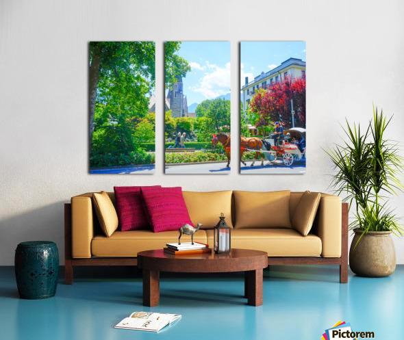 One Day in Interlaken Switzerland 1 of 3 Split Canvas print