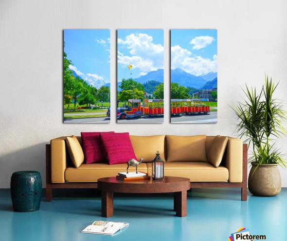 One Day in Interlaken Switzerland 2 of 3 Split Canvas print