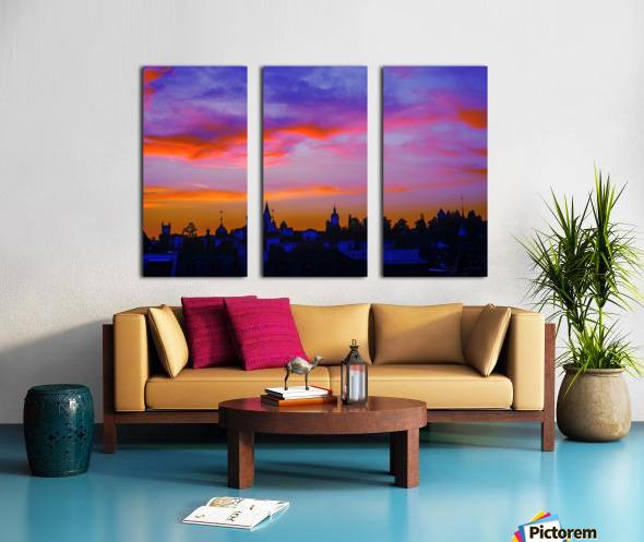 One Fine Summer Evening at Sunset in Lucerne Switzerland Split Canvas print