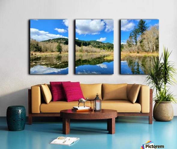 Lay of the land Split Canvas print