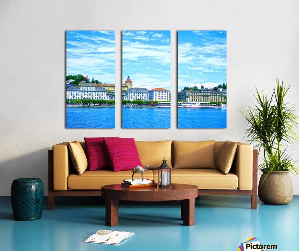 Waterfront   Lucerne Switzerland 2 of 3 Split Canvas print