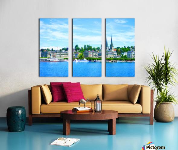 Waterfront   Lucerne Switzerland 1 of 3 Split Canvas print