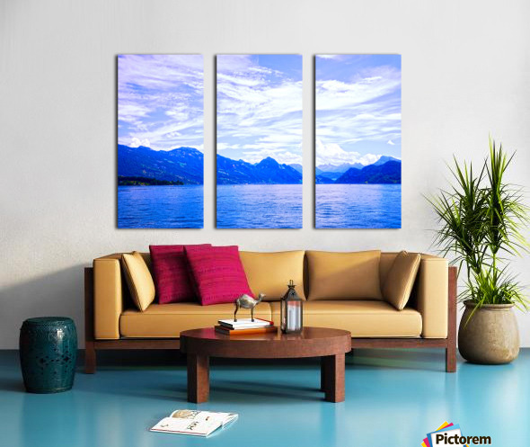 Beautiful Day The Alps and Lake Lucerne 1 of 2 Split Canvas print