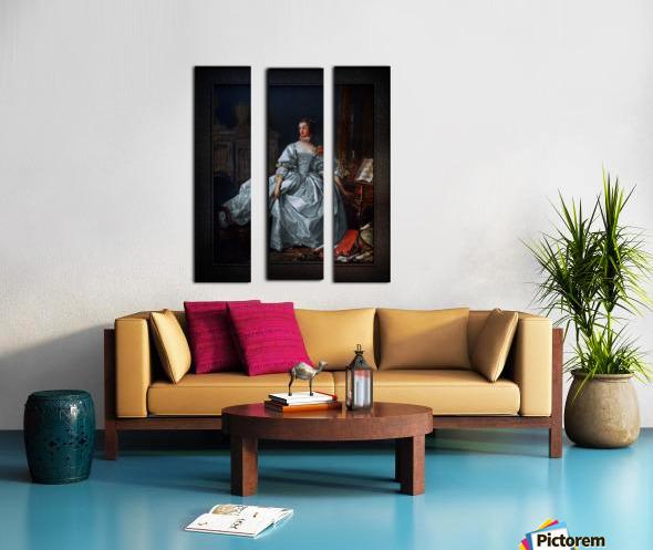 La Marquise de Pompadour by Francois Boucher Classical Fine Art Xzendor7 Old Masters Reproductions Split Canvas print