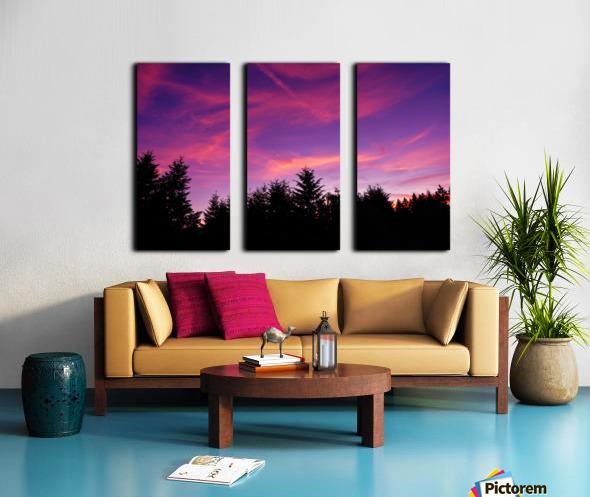 Summer Sunset Pacific Northwest United States Split Canvas print