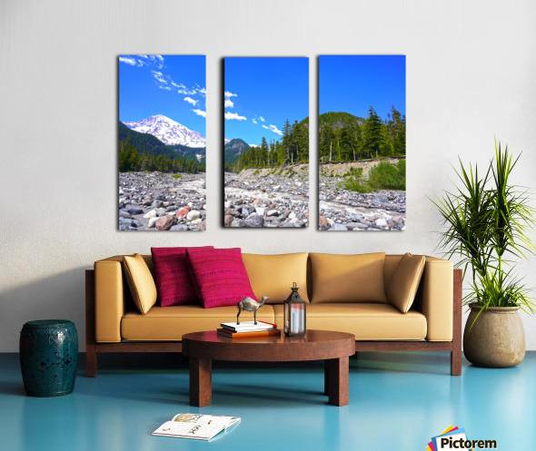 Spring Runoff Mount Rainier Pacific Northwest Washington State Split Canvas print