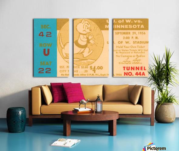 1956 Washington Huskies vs. Minnesota Golden Gophers Split Canvas print