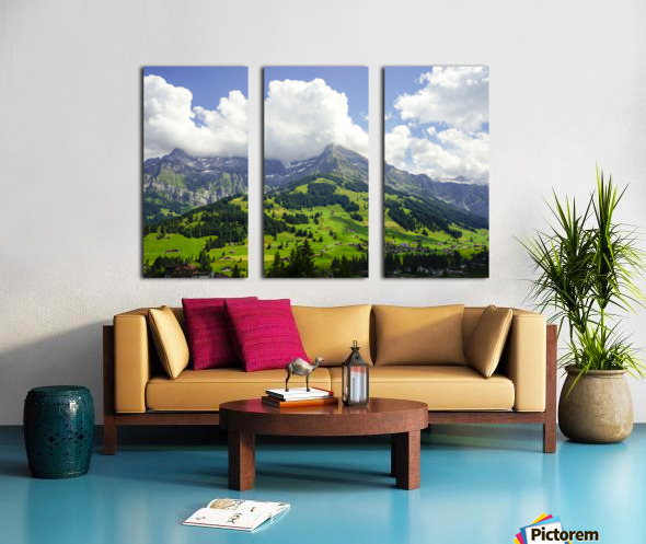 Beautiful Day in the Swiss Alps 2 of 2 Split Canvas print