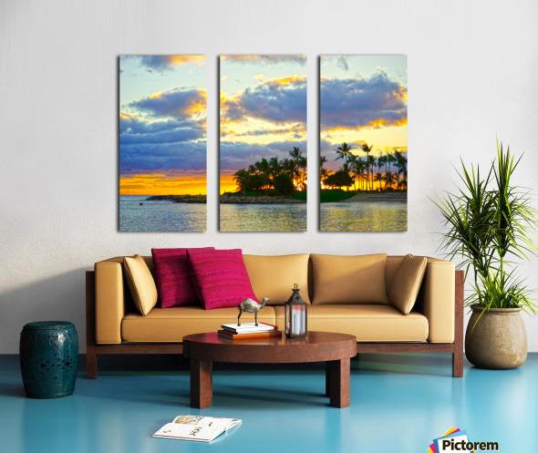 Sunset over Kaula Bay Hawaii Split Canvas print