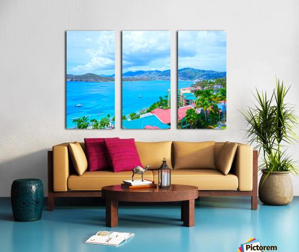 Pacquereau Bay Saint Thomas Caribbean Islands Split Canvas print
