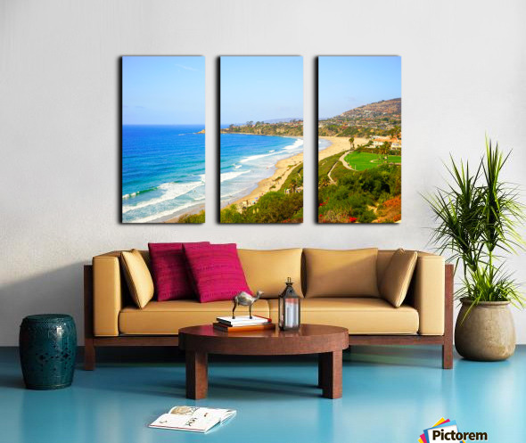 Beautiful Coastal View Newport Beach California 1 of 2 Split Canvas print