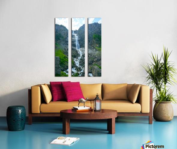 Engstligen Falls Adelboden Switzerland in the Bernese Highlands Split Canvas print