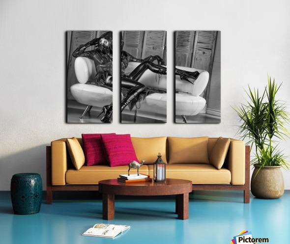 Constance Chaos Couch Split Canvas print
