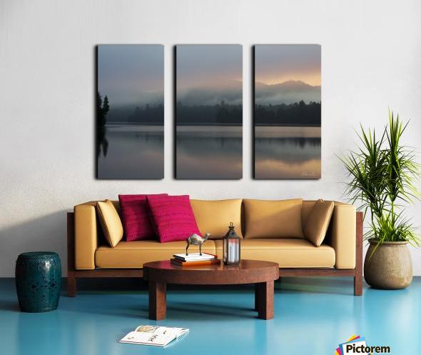 Lever de soleil sur le lac Earhart  1 - Sunrise on Earhart Lake  1 Split Canvas print