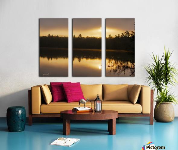 Lever de soleil sur le lac Earhart  2 - Sunrise on Earhart Lake 2 Split Canvas print