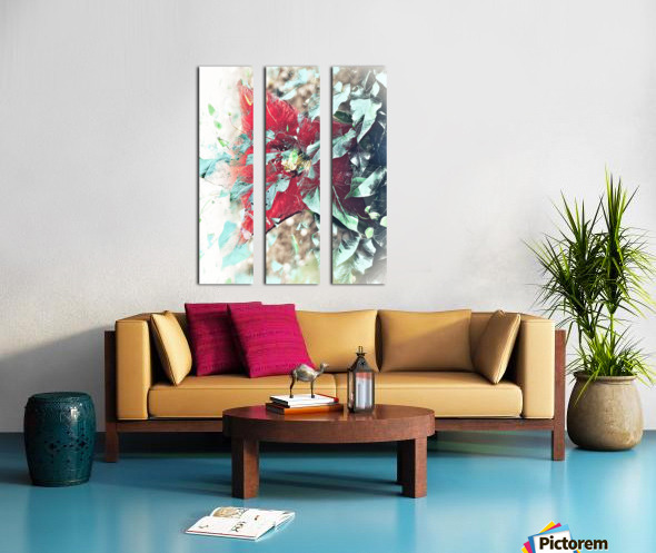 Scarlett Pimpernel with Vine Split Canvas print