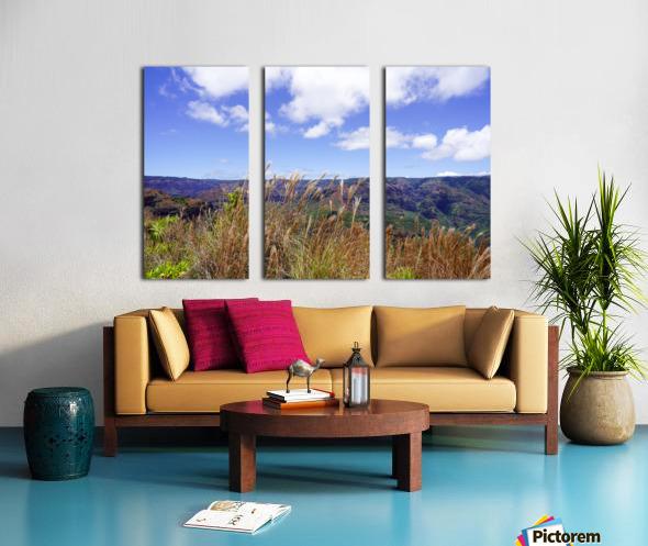 Beautiful View in Waimea Canyon on the Island of Kauai Split Canvas print