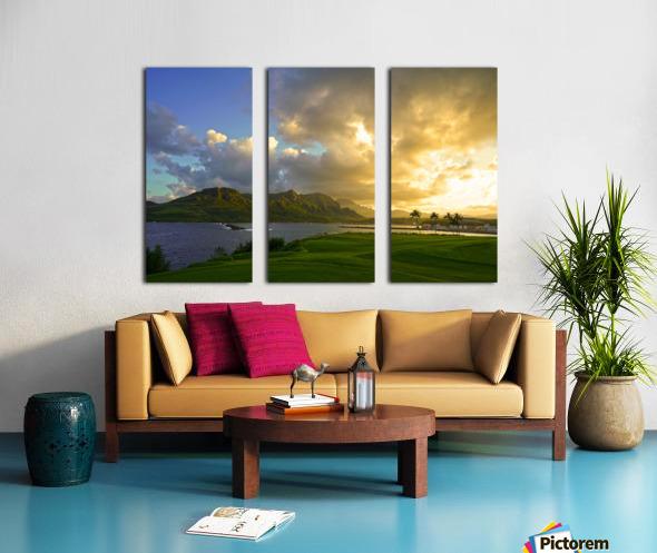 Sunset Nawiliwili Bay Kauai Hawaii Split Canvas print