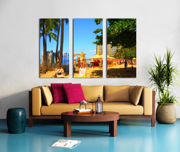 Waikiki Snapshot in Time 2 of 4 Split Canvas print
