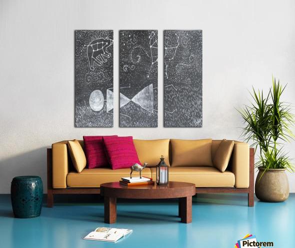 Daydreaming--Warli Tribal art Split Canvas print
