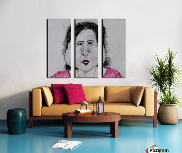 Self Portrait Split Canvas print