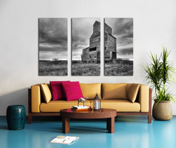 Grain Elevator Split Canvas print