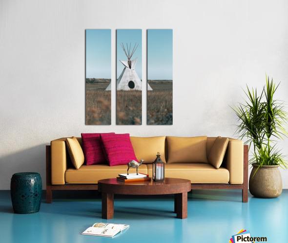 Cree Tipi Split Canvas print