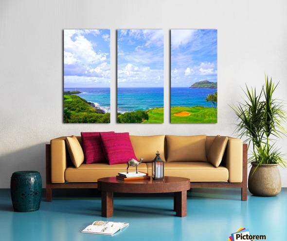 Beautiful Skies over Nawiliwili Bay in Kauai Split Canvas print