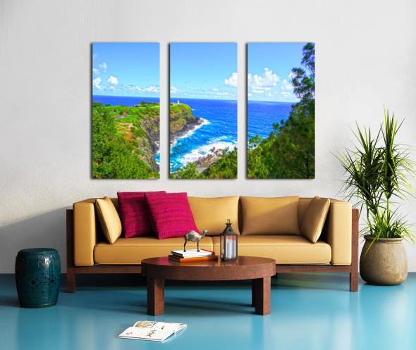 Kilauea Lighthouse in Spring on the Island of Kauai Split Canvas print
