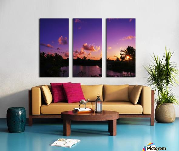 Sunrise over the Lagoon in Kauai Split Canvas print