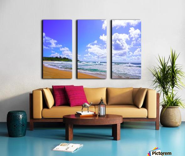 Wild Day at Wailua Beach on the Island of Kauai Split Canvas print