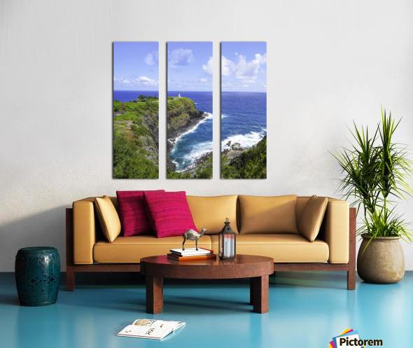 Kilauea Lighthouse on the Island of Kauai Square Split Canvas print