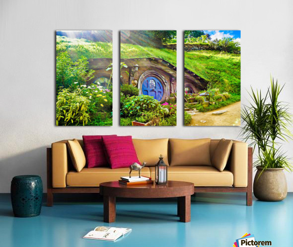 Hobbit Hole Split Canvas print