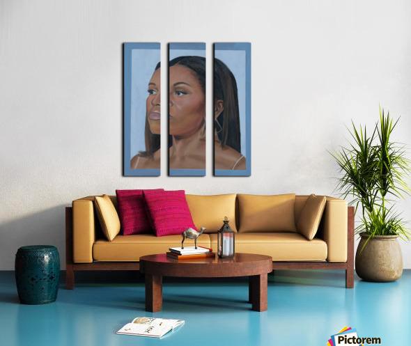 Michelle Obama Portrait Split Canvas print