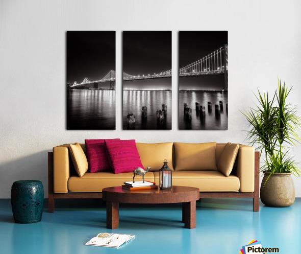 Bay Bridge Black & White Split Canvas print