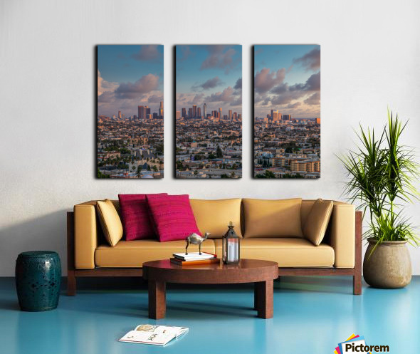 LA Twilight Split Canvas print