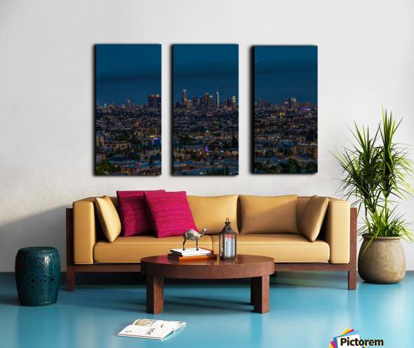 Los Angeles At Night Split Canvas print