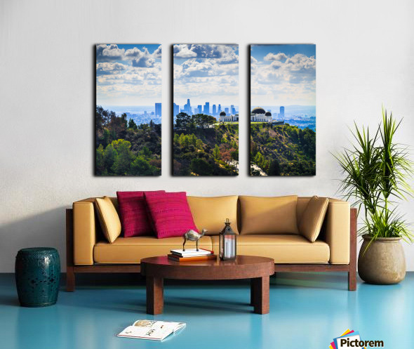 Overlooking Griffith Observatory Split Canvas print