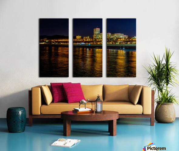 Santa Monica Skyline Split Canvas print